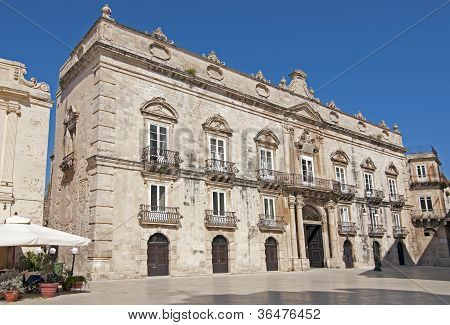 Baroque Building In Siracusa Sicily Italy