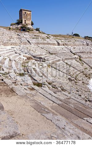 Greek Theater In Siracusa Sicily