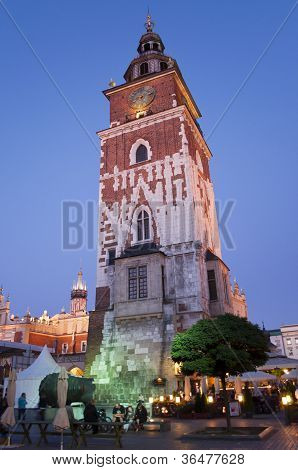 Gothic Town Hall Tower In Krakow