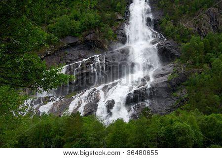 Beautiful waterfall view