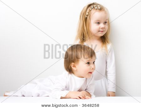 Two Cute Little Girls