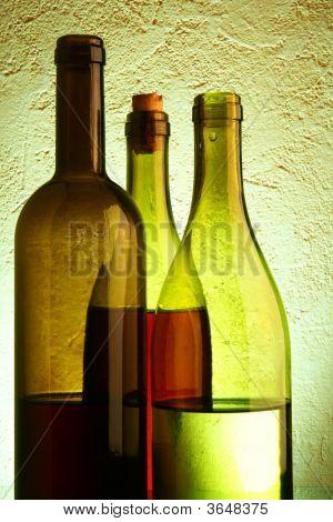 Still-Life With Three Wine Bottles