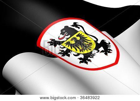 Flag Of Landau, Germany.