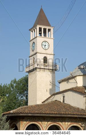 Tirana's landmark central sight is the Clock Tower from 1822