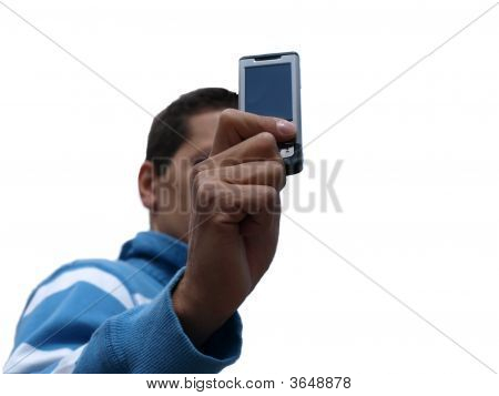 Man Whit Cell Phone