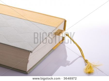Book With Gold Bookmark