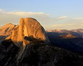stock photo of granite dome  - Half Dome from Glacier Point in Yosemite
