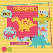 image of dinosaurus  - Scrapbook Design Elements  - JPG