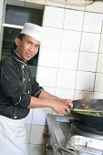 chef cooking poster
