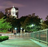 stock photo of bannister  - Riverwalk in Downtown Augusta - JPG