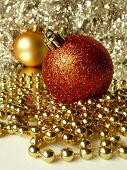 Red & Gold Christmas Tree Ornaments