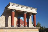 picture of minos  - Knossos minoan ancient palace at Crete island in Greece - JPG