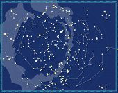 image of perseus  - Celestial Map of The Night Sky - JPG