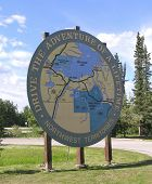 picture of mckenzie  - map of the McKenzie Highway traveling from Alberta Canada to the town of Yellowknife in the Northwest Territories - JPG