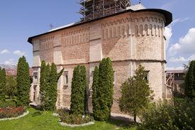 picture of suceava  - Church of christian orthodox monastery in Dragomirna Suceava Moldova Romania - JPG
