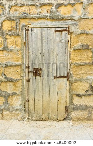 Old Weatherd Wooden Door