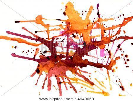 Orange Splatters