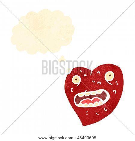 ugly cartoon love heart character
