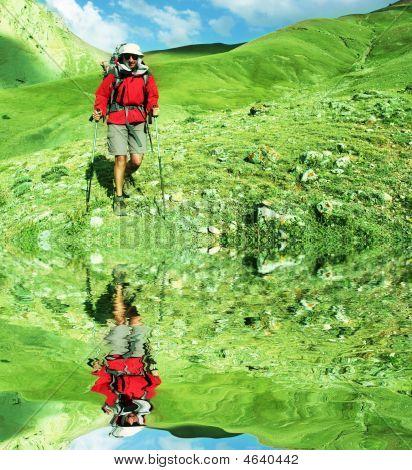 Caminata en montaña