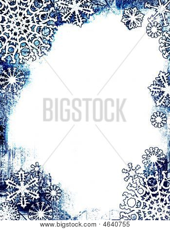 Grungy Snowflake Frame