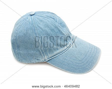 Jean fabric cap