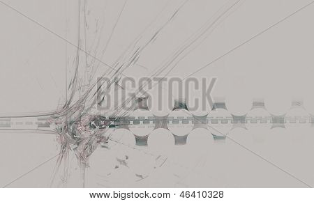 Abstraction on a gray background - a stylized image of the intersection.