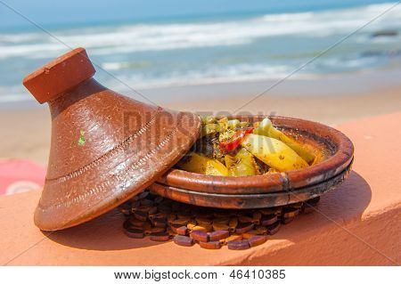 Fish Tajine, Traditional Moroccan Dish