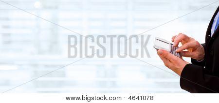 Hands Using Cellphone