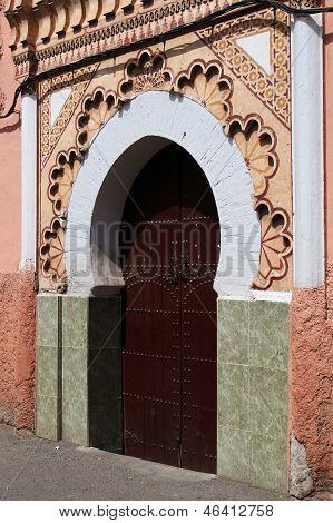 A Mosque Entrance In Marrakesh