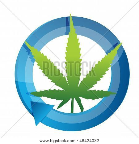 Marijuana Cycle Illustration Design