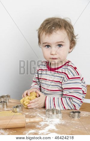 Young Child Making Cookies
