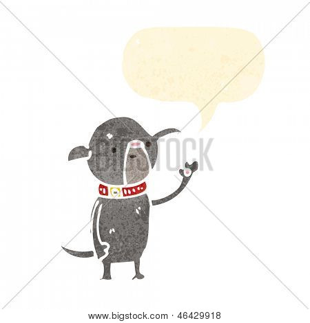 cartoon little pug dog waving