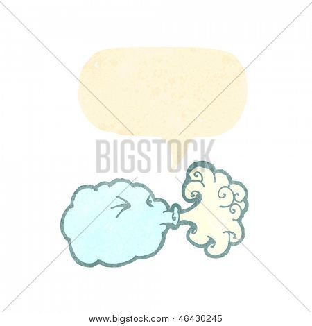 retro cartoon blowing cloud