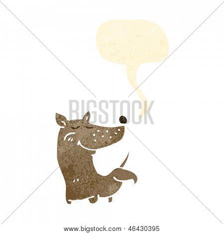 retro cartoon dog cocking leg