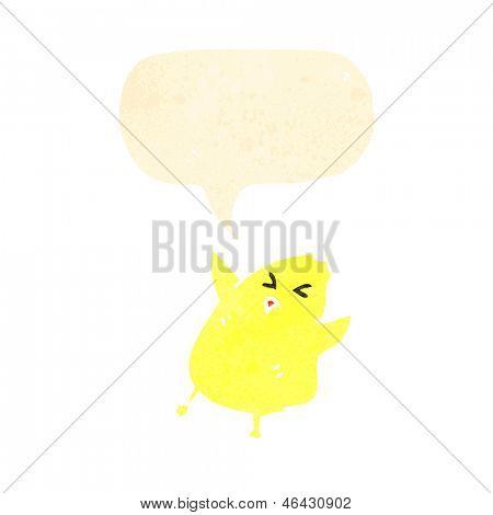 Polluelo de dibujos animados retro