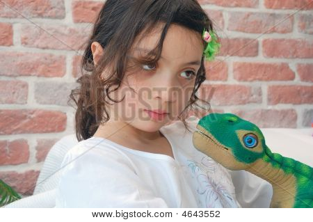 Girl With A Dino