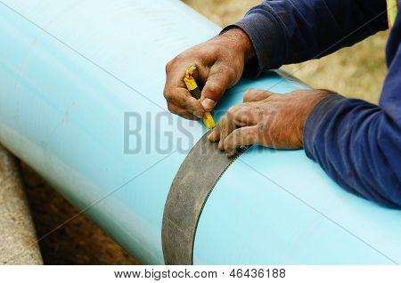 Cut Plastic Pipe
