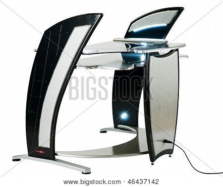 Modern computer desk or workstation