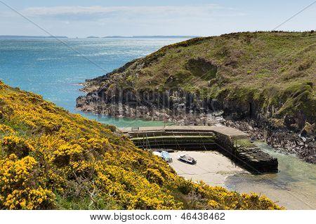Porthclais harbour Pembrokeshire West Wales