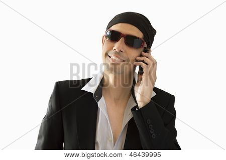 Latin lover calling by phone