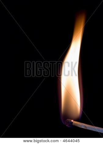 Burning Match Stick