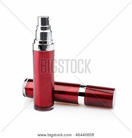 Red cosmetic cans