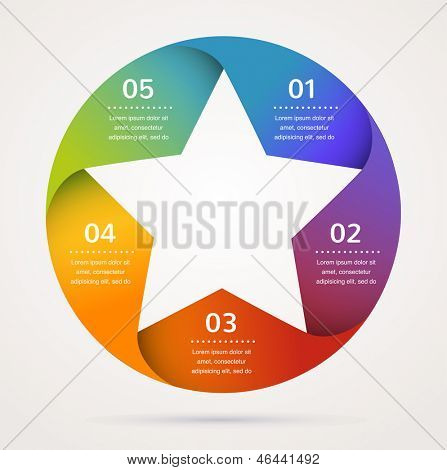 Star design template and infographics, abstract background