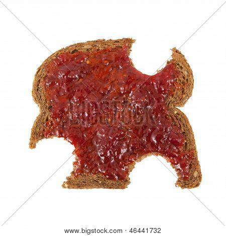 Slice Of Brown Bread With Jam