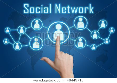 Pressing Social Network Icon
