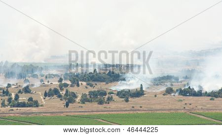 After Artillery Fire In Syria Al Qunaytirah On Golan Heights