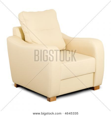 Bright Leather Armchair