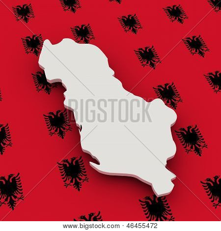 Albania Map And Flag
