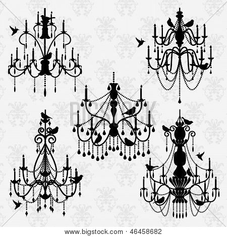 Vector Set of Chandelier Vectors with Birds