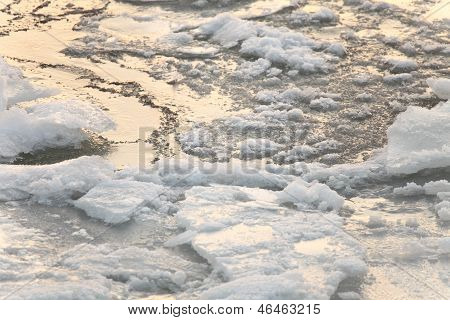 Background Of Pack Ice - Floe